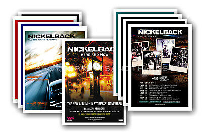 NICKELBACK - 10 promotional posters  collectable postcard set # 1