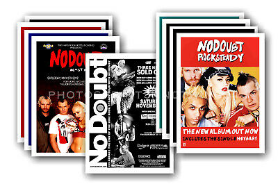 NO DOUBT - 10 promotional posters  collectable postcard set # 1