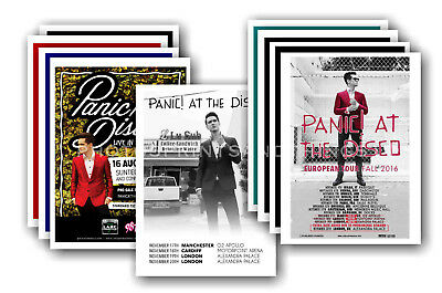 PANIC AT THE DISCO  - 10 promotional posters  collectable postcard set # 1
