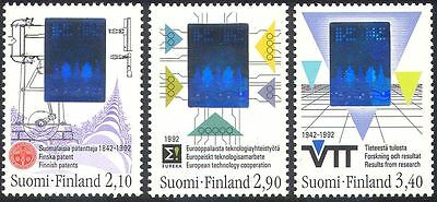 Finland 1992 Science/Technology/Hologram/Holograph/Trees/Engine 3v set (n41515)