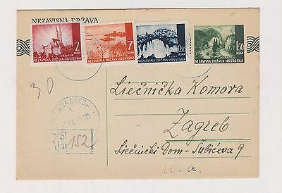 CROATIA,WW II, registred  postal stationery, BABINA GREDA   1943 #
