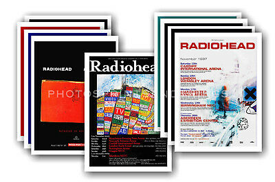 RADIOHEAD - 10 promotional posters  collectable postcard set # 1