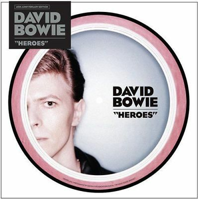 "DAVID BOWIE HEROES 40th ANNIVERSARY 7"" PICTURE DISC VINYL (22/09/2017)"