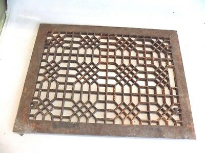 Antique Cast Iron Heat Grate Vent Register Vintage 16 14 x  22 1 8