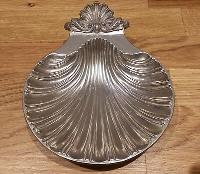Silver Plated Sea Shell Dish Made In England