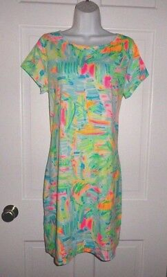 474d35a690578d NWT $98 LILLY Pulitzer Short Sleeve Marlowe Dress in Pelican Pink ...