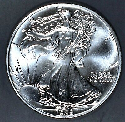 1989 1 oz AMERICAN SILVER EAGLE BRILLIANT UNCIRCULATED ASE  SKU1989B