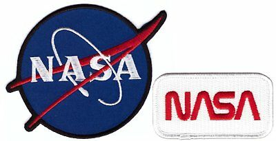 Nasa Logo Embroidered Iron On Patch Set of 2