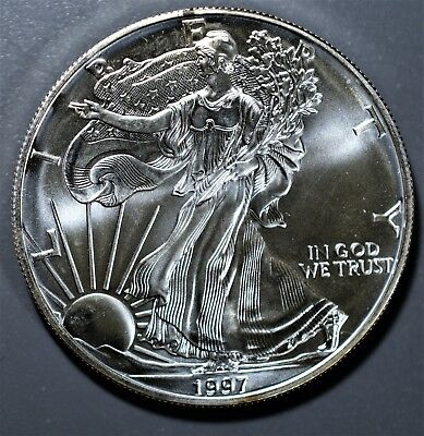 1997 1 oz AMERICAN SILVER EAGLE BRILLIANT UNCIRCULATED ASE  SKU1997B