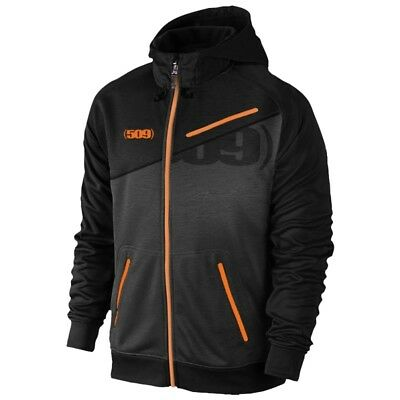 509 Tech Zip Water Resistant Hoodie With Zip Off Hood - Orange - 509-CLO-T7OZ-__