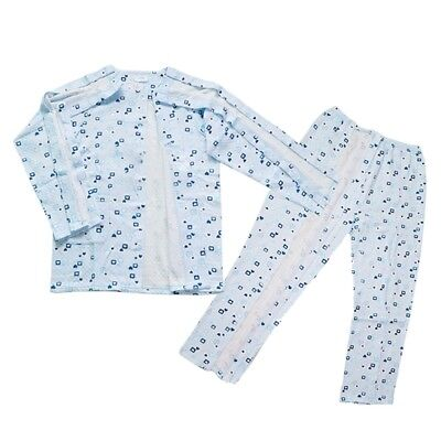 New Patient Medical Clothes Button Tops Hook&Loop Pants Fracture Care Costume