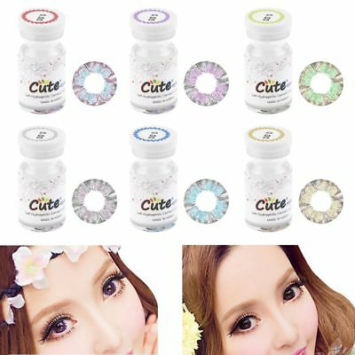 6 Colors Fashion Cosmetic Contact Lenses Circle Big Eyes Makeup Party Cosplay x4