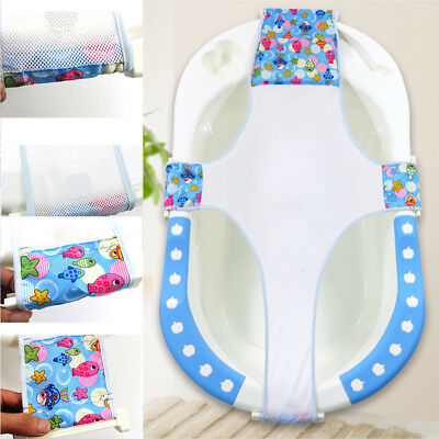 Baby Bathtub Mesh Seat Support Sling Net Infant Bath Tub Hammock Bathrooms
