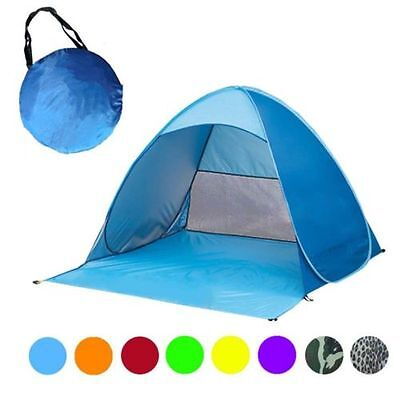 2-4 Person Tent Portable Beach Sun UV Shade Cabin Outdoors Camping Hiking EP