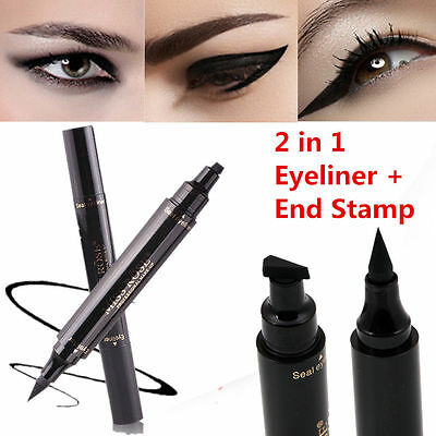 Black Winged Eyeliner Stamp Waterproof Makeup Cosmetic Eye Liner Pencil  Liquid