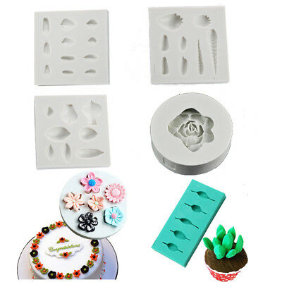 Cake Decoration Baking Mold Fondant Crerative Gumpaste DIY Succulent Plant Mould