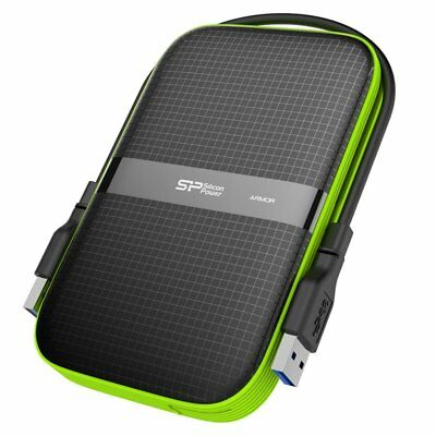 "Silicon Power 1TB Armor A60 External Hard Drive 2.5"" Shockproof SP010TBPHDA60S3K"
