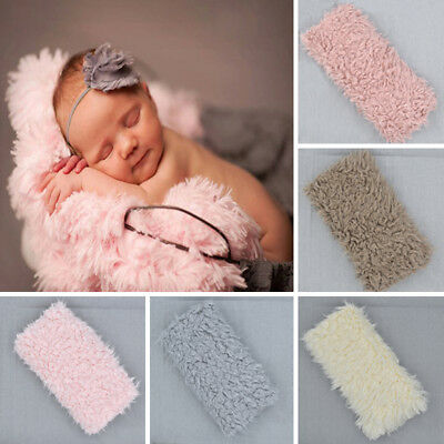 Soft Faux Fur Rug Mat Newborn Baby Photography Props Kids Blanket Basket Stuffer