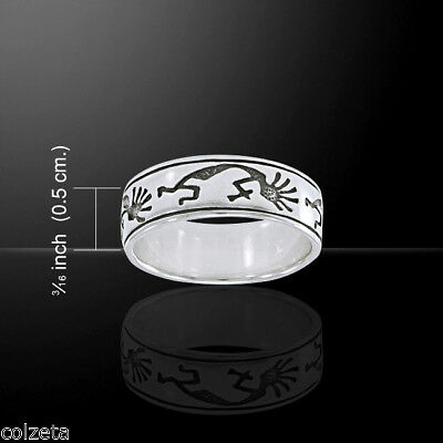 KOKOPELLI ring .925 sterling silver  by Peter Stone