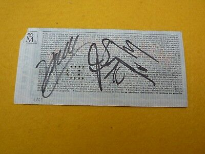 Helloween Signed by the band Aviles        Concert ticket Entrada Ç