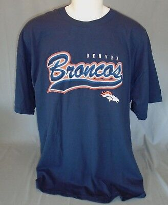 2cf972729 DENVER BRONCOS NFL Men s Navy Blue Long Sleeve T-Shirt Size 2XL ...