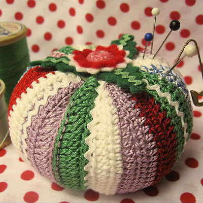 PATTERN for Vintage-Style rick rack, felt & crocheted Pin Cushion / Pincushion
