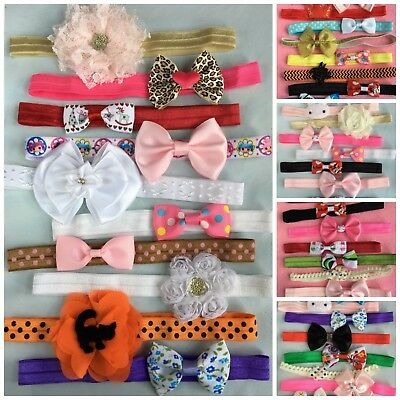 Bundle of 10 Baby Headbands All Different Designs Minnie Mouse Flower Gift