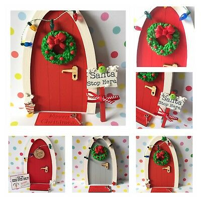 Christmas Fairy Elf Door with elf on the shelf notes and accessories