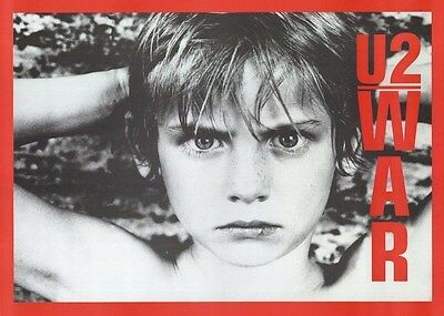 U2 ~ WAR 23x32 POSTER Music Bono Edge Larry Mullen Adam Clayton Album Cover
