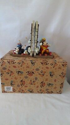 Terrytune 1997 Mighty Mouse And Pearl Bookends MIB #J399