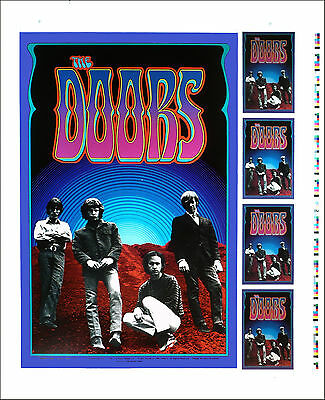 Doors Poster UNCUT PROOF Artrock Series PCL029 1990 Very Rare Gary Grimshaw