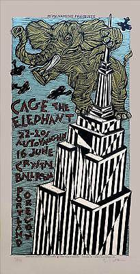 Cage the Elephant Poster Original Signed Silkscreen by Gary Houston