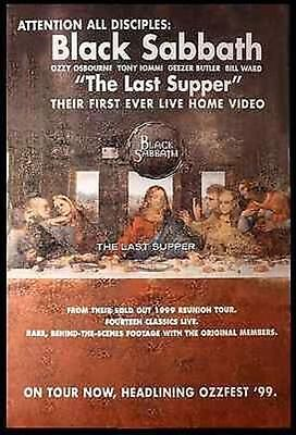 Black Sabbath The Last Supper Original Poster for First Video Release 1999