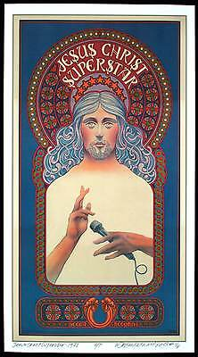 Jesus Christ Superstar Poster Full-Sized Artist Edition Hand-Signed David Byrd