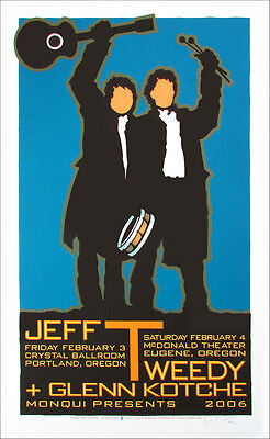 Jeff Tweedy Poster Glenn Kotche Wilco Signed Silkscreen Gary Houston 2006
