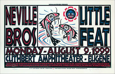 Neville Brothers Little Feat Poster Signed Silkscreen by Gary Houston