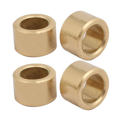 4pcs 8mmx12mmx8mm Powdered Metal Bronze Sleeve Bearing Bushing Gold Tone