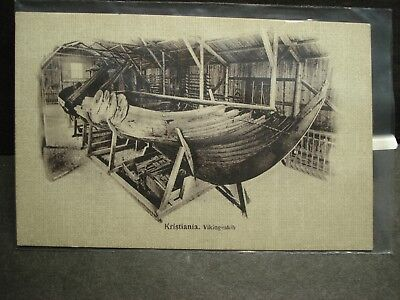 VIKING LONGBOAT KRISTIANIA Naval Cover unused post card