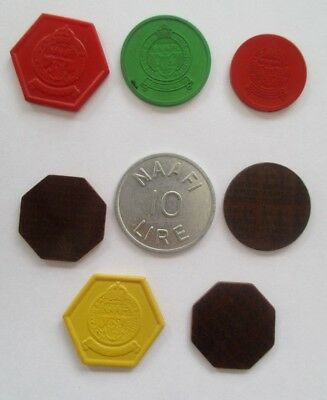 Job Lot Of Five Rare Ww11 Naafi Tokens