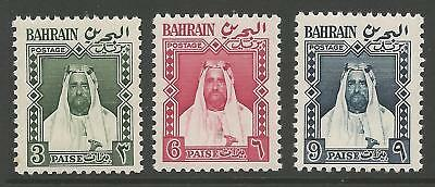 Bahrain Sgl4/6 1957 Local Stamps In New Currency Mnh