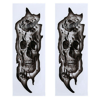 Suspension Forks Skull Stickers Motorcycle Decals Custom Graphics For Harley
