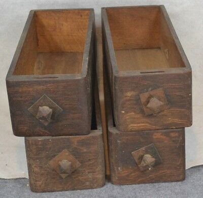 sewing machine drawers 4 match  solid oak individual antique vintage