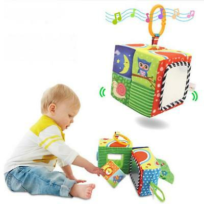 Baby Infant Kids Cloth Building Blocks Cube Rattle Toys Educational Colorful Toy