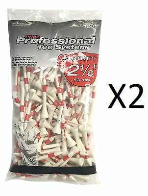 "Pride Professional - Golf ShorTee Irons, 2 1/8"", 120 Count, White/Red (2-Pack)"