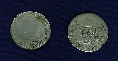 Mexico War Of Independence  Zacatecas 1821-Z-Rg 1 Real Silver Coin