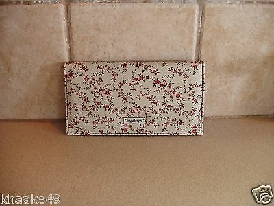 Longaberger Vintage Floral Checkbook Cover With Photo Insert Nip * Free Shipping