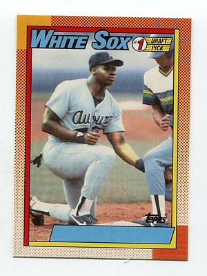 1990 Topps 414 Frank Thomas Rc Nnof No Name On Front Error Rookie Card Rp