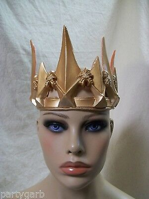 Gothic Ravenna Gold Crown Wicked Evil Queen Snow White Huntsman War Apocalyptic
