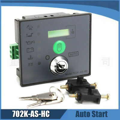 702K-AS-HC Black Plastic Electronic Auto Start Generator Controller Board Panel