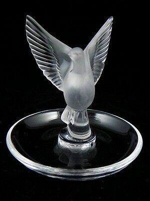 CHOOSE ONE LALIQUE GROUSE,PHEASANT,LOVE BIRDS NUDES,WREN,BOXED RING TRAY